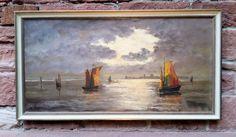 Der Kunst Blog: Segelboote vor sandiger Küste, maritimes Ölgemälde...