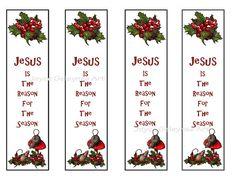 Christmas Printable Bookmarks Jesus Reason For Season by joyart, $2.50
