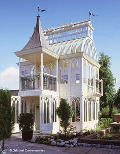 """Not treehouses, but this is from a collection of twenty """"Wendy Houses,"""" or playhouses - wendyhouseconservatory"""
