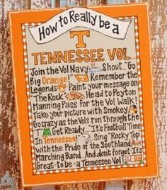 How to REALLY be a Tennessee Vol
