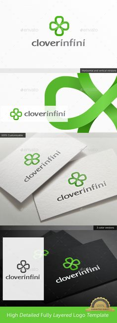 Irish Clover Infinity Logo — Vector EPS #no end #green • Available here → https://graphicriver.net/item/irish-clover-infinity-logo/10612007?ref=pxcr