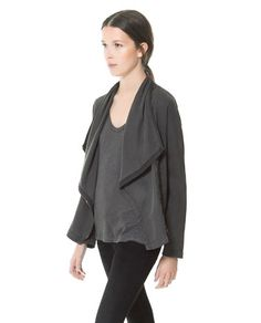 Image 2 of COMBINATION CARDIGAN from Zara - this could be good for work.  looser fit, but still has style