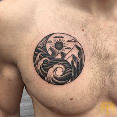 Yin Yang tattoo by Ashley Welman from TRADE MARK TATTOO Durban South Africa