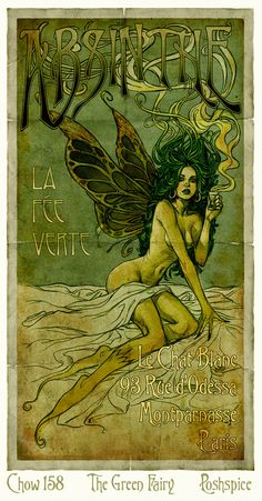 The Green Fairy~ Absinthe: the drink for artists :)