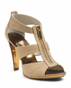 MICHAEL Michael Kors Berkley Embossed T-Strap Sandal on Wanelo