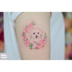 Mini Tattoos, Dog Tattoos, Cat Tattoo, Animal Tattoos, Flower Tattoos, Body Art Tattoos, Small Tattoos, Cute Ankle Tattoos, Pretty Tattoos