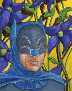 Adam West Batman Adam West Batman, Superhero, Portrait, Painting, Art, Art Background, Headshot Photography, Painting Art, Kunst