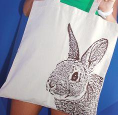 rabbit tote, tote bags