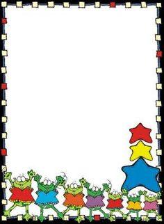 Frogs & Stars Border