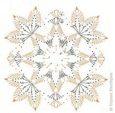 Crochet Snowflake Pattern, Crochet Motif Patterns, Crochet Lace Edging, Crochet Leaves, Crochet Blocks, Crochet Snowflakes, Thread Crochet, Crochet Doilies, Crochet Yarn