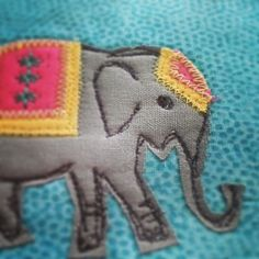 elephant applique / free motion applique | by stitchydoo