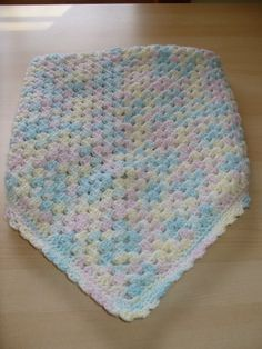 Big granny square baby blanket