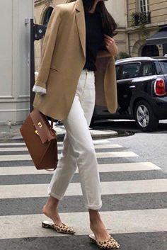 35 Classy Office Wear Looks For Fall: wearing a camel blazer a bl . - 35 Classy Office Wear Looks For Fall: wearing a camel blazer a bl Waist Bag Outfits b - Office Wear Women Work Outfits, Blazer Outfits For Women, Classy Work Outfits, Fall Outfits For Work, Work Attire, Classy Jeans Outfit, Summer Office Outfits, Classy Clothes, Autumn Office Wear