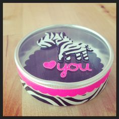 zebra <3 made with #ducktape - I didn't know you could cut duck tape on the cricut!  I wonder if it works on sizzix.