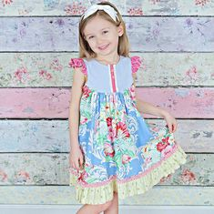 Girls Dress Pattern with Flutter Sleeve How to Sew the