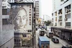 vhils » The Mills, Hong Kong