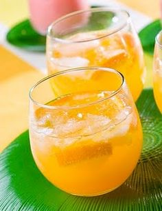 Breakfast Punch -refreshing drink in the summer... Works great with Champagne or white rum as well ;)  1 can Orange juice  1 Liter Pineapple juice  3 cans club soda  3 cans Fresca  1 can Bacardi pina colada mix-thawed  Mix & Enjoy!