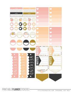 Golden Birds Planner Stickers - Fit Life Creative
