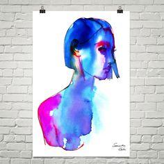 Blue girl 24X36 poster