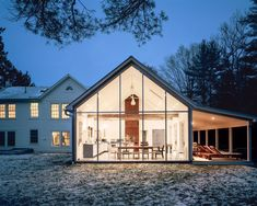 """""""Floating Farmhouse"""" in Eldred New York is a modern five-room holiday rental home with a touch of old world charm."""