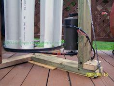 Treadmill motor mounting for VAWT