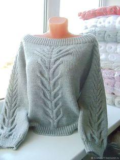 Aran Knitting Patterns, Crochet Gloves Pattern, Knitting Stiches, Knitting Designs, Knitted Jumper Outfit, Crochet Cardigan, Knit Crochet, Knit Fashion, Sweater Fashion