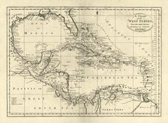 Chart Of The West Indies, 1795 by Carey, Mathew - Wall Art Giclee Print or Canvas