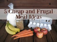 35 Frugal Recipes to Make When You're Broke - Check out this list of 35 frugal recipes and learn how to feed your family when you're low on cas - Frugal Meals, Cheap Meals, Budget Meals, Easy Meals, Frugal Recipes, Inexpensive Meals, Healthy Foods To Buy, Healthy Eating, Healthy Recipes