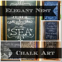 Several beautiful and creative ways to write your chalk art #gettingcreativeathome