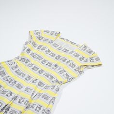✦ CLICK TO BUY ✦ Dress 50s yellow heavy cotton - Abito anni '50 in cotone pesante - Fantasia azteca con giallo - Millesimè Vintage clothing & accessories