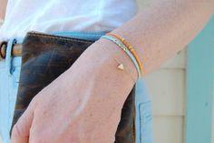 dores triangle bracelet - so dainty. and i love triangles.