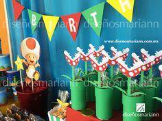Mesa de culces Mario Bros/Candy bar infantil/Mario Bros favors