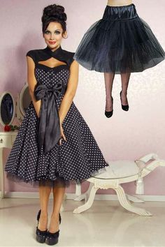 bebf9a5ff8c Pretty dress with petticoat 50iger Kleider