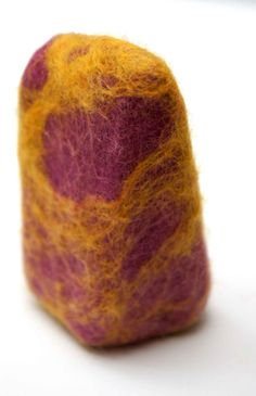 Felted Soap cold process orange soap.
