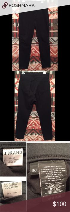 ❗️J Brand Jeans-Alana Crop in Hewson Size 30 Great condition J Brand Black Jeans - Lightweight Stretch Denim - 98% Cotton/2% Elastane. Inseam- 27 inches⭐️ Products come from smoke-free home. ⭐️Make offers through OFFER Button Only. ⭐️ Transactions ONLY on Poshmark⭐️ No Trades ⭐️ Reasonable Offers Considered ⭐️ Thanks you for shopping! J Brand Jeans Ankle & Cropped