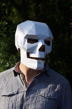 Cráneo máscara fácil de hacer y perfecto para por Wintercroft