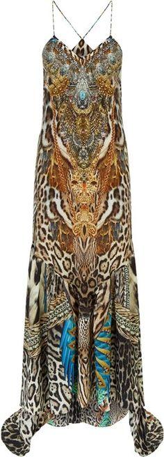 Camilla Franks Warrior Wanderlust Embellished Maxi Dress. Kaftans, Abayas, Animal Print Fashion, Fashion Labels, Camilla, Harrods, Print Design, Wanderlust, Lounge