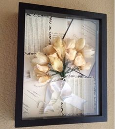 Unless you are part of the Adams Family dead flowers are generally not something you want to display in your home. However, when framed in a shadow box along with other special mementos including invitations, photos and jewelry, preserved wedding flowers can be quite beautiful.