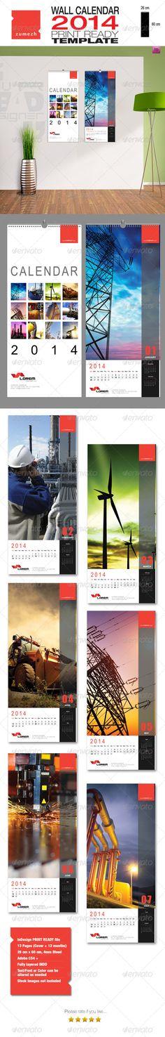 Corporate Wall Calendar 2014 - Portrait #GraphicRiver