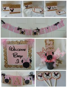 Minnie Mouse  Leopard Baby Shower Party by ASweetCelebration