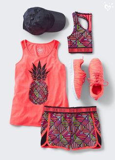 Marathon Running Gear: 3 Essential Items for Training & Races Active Outfits For Girls – Girls' Gym Outfits Sporty Outfits, Athletic Outfits, Summer Outfits, Dance Outfits, Girl Outfits, Fashion Outfits, Fashion Trends, Art Sport, Justice Clothing
