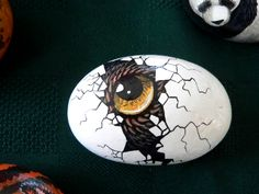 Close-up of one of my pet rocks. More rocks: [link] [link] Pet Rocks 3 Rock Painting Patterns, Rock Painting Designs, Paint Designs, Pebble Painting, Pebble Art, Stone Painting, Pet Rocks, Stone Crafts, Rock Crafts