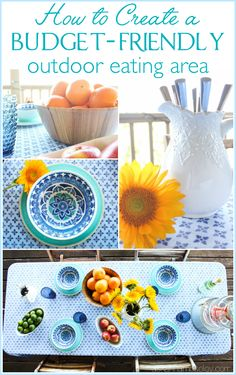 How to Set Up an Affordable Outdoor Dining Area