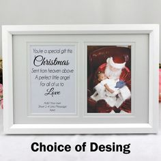 Christmas Typography, Personalized Christmas Gifts, Frame Display, Typography Quotes, 1st Christmas, Special Gifts, Frames, Personalised Christmas Gifts, Frame