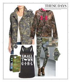 """""""Camo"""" by fashionlifeforevaaa ❤ liked on Polyvore featuring Bullhead Denim Co., Velvet by Graham & Spencer, Valentino, Under Armour, Sonix, Versus, women's clothing, women, female and woman"""
