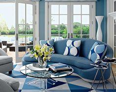 House blue interior