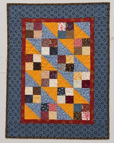 American Doll Quilts by: Kathleen Tracy Project made by: Abbi Barden Martingale & Company Cute Quilts, Small Quilts, Mini Quilts, Baby Quilts, Primitive Quilts, Quilt Block Patterns, Quilt Blocks, Sewing Patterns, Quilting Projects