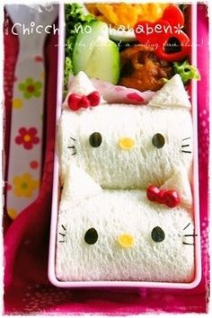 Hello kitty roll sandwich bento