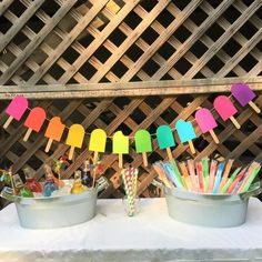 Check out our popsicle party selection for the very best in unique or custom, handmade pieces from our party favors shops. Summer Birthday, Third Birthday, Birthday Fun, 1st Birthday Parties, Birthday Ideas, Paleterias Ideas, Party Ideas, Popsicle Party, Popsicle Sticks