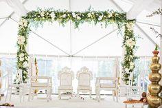 Enchanted Florist | Golden Opulence Indian Affair with Fete Nashville | Real Wedding at Schermerhorn Symphony Center - indian wedding flowers